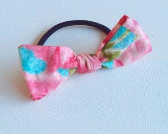 Pretty Pink Bow - Hair Tie