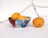 ceramic serving bowl, soup bowl in terracotta modern artistic