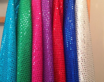 Sequin Fabric - Brights -  by EESCO - Special Knit Fabric Yardage
