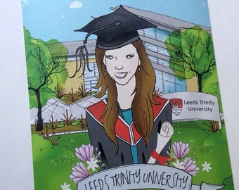 Personalised Caricature Graduation Card