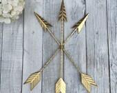 Arrow Wall Hanging/GOLD/Arrow Gallery Wall/Gold Home Décor/Arrow Nursery Décor/Tribal/Native American/Metal Arrow/Bohemian Décor/Trendy Gold