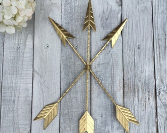Arrow Wall Hanging/GOLD/Arrow Gallery Wall/Gold Home Décor/Arrow Nursery Décor/Tribal/Native American/Metal Arrow/Bohemian Décor/Trendy Gold