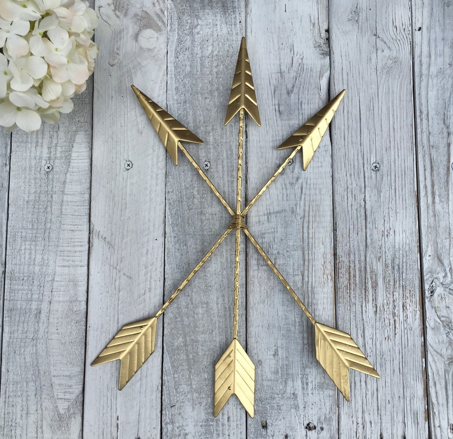 Gold Arrow Wall Decor : Arrow wall hanging gold gallery home