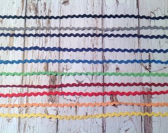 Coloured Ric Rac ribbon, Ric Rac, 10 meter variety pack, sewing supplies, scrapbooking supplies, Ric Rac ribbon trim,