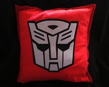 """Autobot/Decepticon inspired pillow cover - 20 x 20"""" with zip, 100% cotton"""