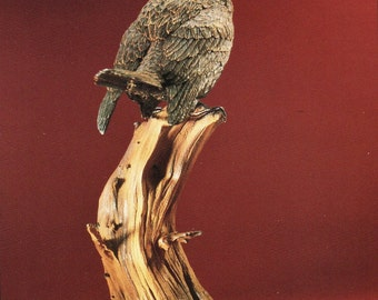 King Fisher Wood Carving