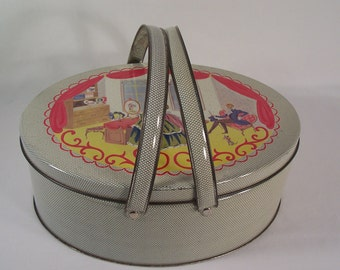 Vintage Large Tin with Handles    S734