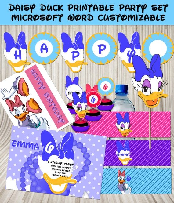 Daisy Duck Girl's Birthday Party Printables In By