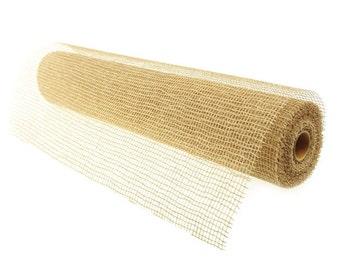 Natural Jute Poly Mesh Roll, 21-inch, 10-yard