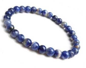 10mm Blue Sodalite Bracelet, Mens Womens Sodalite Bracelet, Blue Beaded Bracelet Gift, Stretch Bracelet Jewelry, Sodalite Gemstone Jewelry