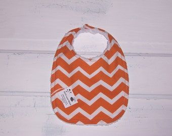 Orange Chevron Baby Bib!  FREE SHIPPING !!!!!!