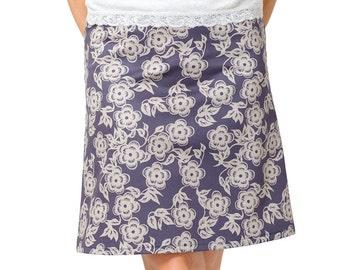 Smoke Black Skirt ~ Smoky Black Floral ~ Black Floral Skirt ~ Black Mini Skirt ~ Black Midi Skirt ~ Floral Midi Skirt ~ Black Floral Mini