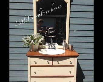 Convert Dresser to Bath Vanity Cabinet INCLUDING Sink, Faucet, Drawer Modifications Complete Conversions! Many Styles, Sizes inc Dual Sinks!
