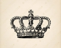 INSTANT Download Printable CROWN Clipart Graphics - jpeg png Scapbooking Collage Clip Art - Digital Fabric Transfer Image - print & iron on