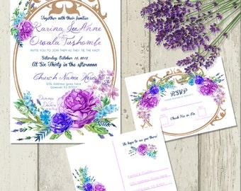 Watercolor Flower Invites
