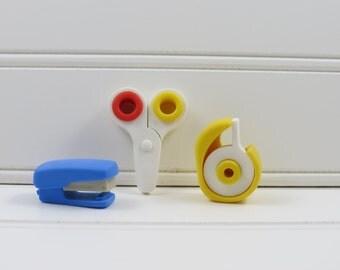 Japanese Erasers | Tape Eraser, Scissors Eraser, Stapler Eraser | Cute Erasers | Japanese Stationery | Kawaii Erasers | Back to School