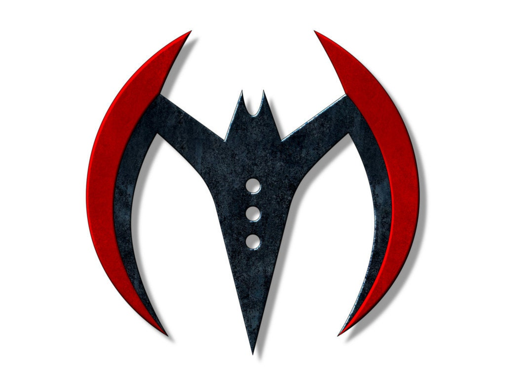 Template for Batman Beyond Batarang by TheFoamCave on Etsy