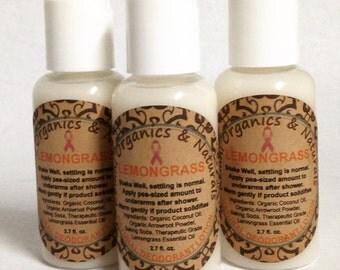 Natural Deodorant Lotion - Lemongrass - 2.7oz