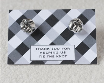 Thank You 'Tying The Knot' Cufflinks