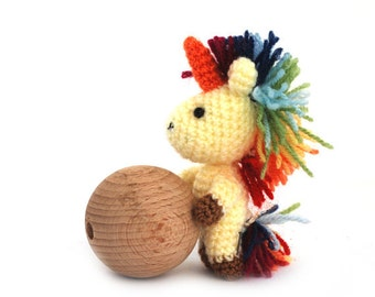 crochet unicorn, amigurumi unicorn, stuffed unicorn doll, miniature unicorn toy, small fairy doll, animal doll crochet, little unicorn