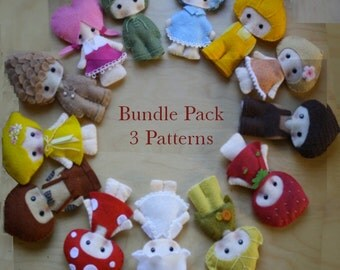 PDF BUNDLE PACK -Three (3)  Critterwood patterns of your choice.