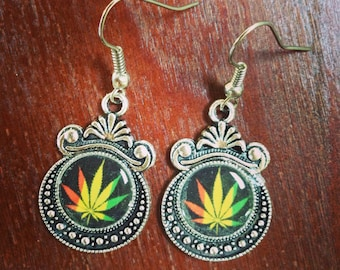 Pot leaf earrings