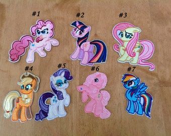 My Little Pony Iron - On Heat Transfer Patches - Free Shipping