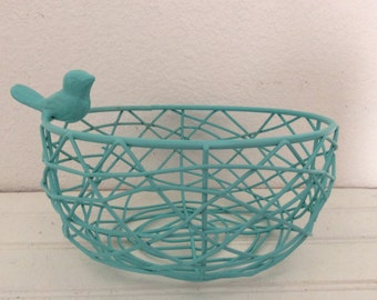 Metal Bird Nest Etsy