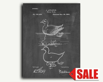 Patent Print - Decoy Duck Patent Wall Art Poster