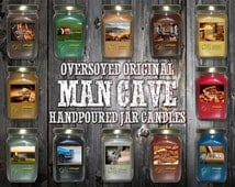 Oversoyed Original Man Cave Man Candles - Hand Poured with All Natural Soy - Great Bachelor, Wedding, Father's Day, Holiday, and Male Gift