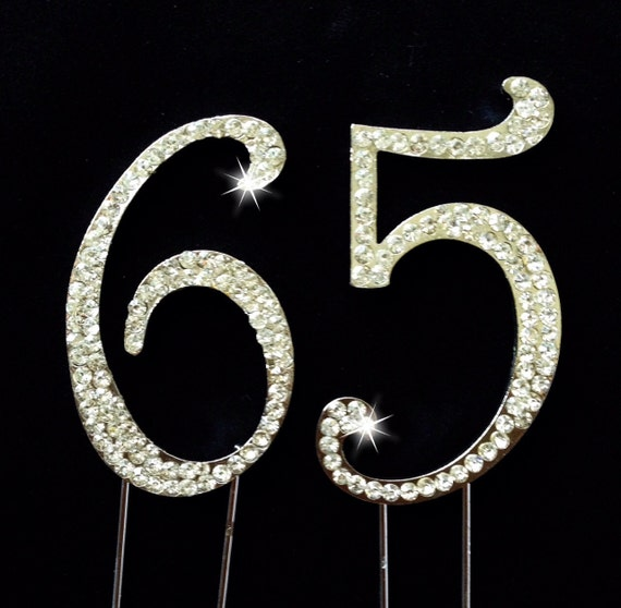 65th birthday cake topper 65th anniversary cake topper for Decoration 65th anniversary