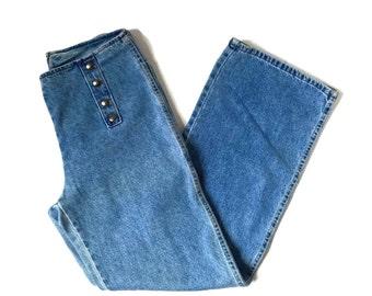 Vintage wide leg high waist jeans