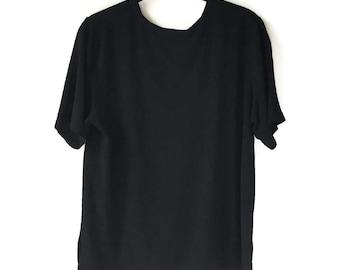 Black Boxy Fit Top