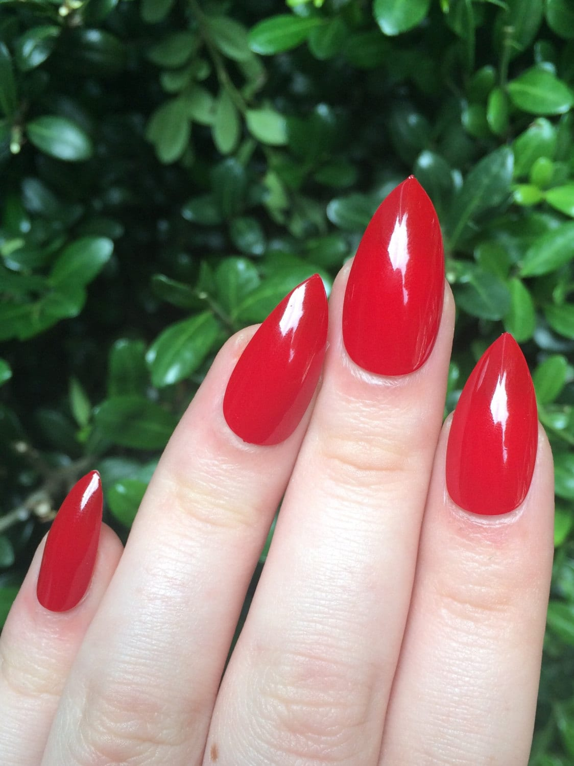 Red Pointy Nails