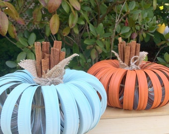 Mason Jar Lid Pumpkin, Autumn, Pumpkin, Fall Decor, Centerpiece, Fall Wedding, Farmhouse, Fall, Country Decor, Home Decor, Shabby Chic