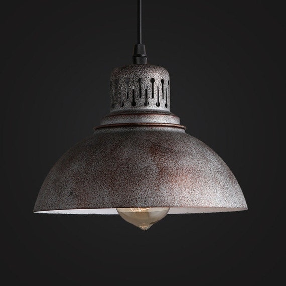 Old Industrial Pendant Light: Old Warehouse Pendant Lamp Industrial Lighting Vintage