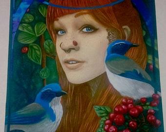 Jay Bird 8x10 print