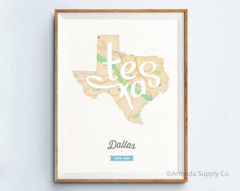 Dallas Print - Dallas Art - Dallas Poster