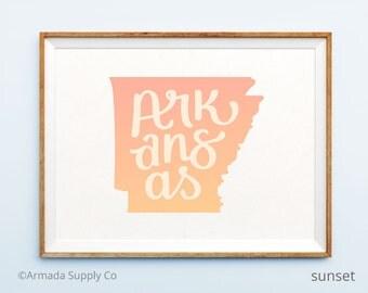 Arkansas print - Arkansas art - Arkansas poster - Arkansas wall art