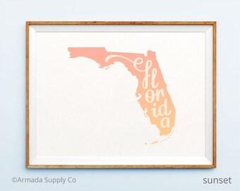 Florida print - Florida art - Florida poster - Florida wall art