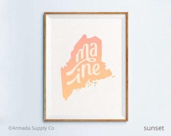 Maine print - Maine art - Maine poster - Maine wall art