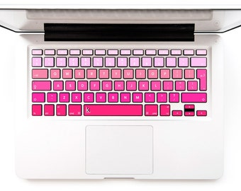 Macbook Decal Keyboard Sticker for Macbook Mac Lenovo Asus Sony Dell HP Acer Samsung Toshiba Colorful pink pinky Pink Ombre