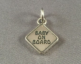 Baby On Board .925 Sterling Silver Charm