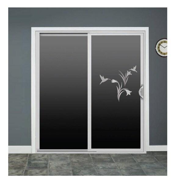 Glass Door Sliding Glass Door Decals Hummingbird Flowers Birds Glass Door  Decals Sliding Door Decal