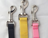 Heavy Duty Nylon Dog Leash (Silver or Gold Hardware Available!)