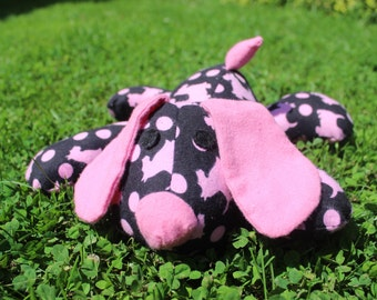 Black with pink scottie dog stuffed puppy/dog/plushie