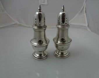 Vintage Sterling Silver Salt & Pepper Shakers