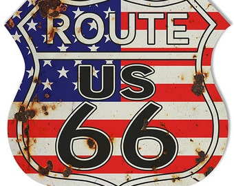 RG6800 Route 66 Interstate Sign 15X15 Metal