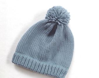 Kids hat - 2 to 6 years - Kids knit beanie - Kids accessories - Childs Pom Pom beanie