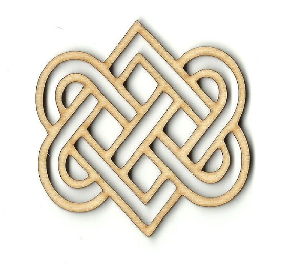 Design Laser Cut Out Unfinished Wood Shape Craft Supply